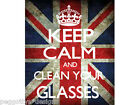 keep calm and clean your glasses micro fibre cleaning cloth camera lense novelty