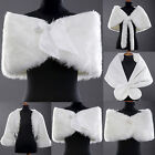 Winter Ivory Wedding Shawls Shrug Bolero Coat Bridal Shawl Wraps Jacket Faux Fur
