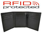 Mens Quality Soft Leather Trifold Wallet in Black or Brown