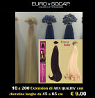 EURO SO.CAP HAIR EXTENSION 25 a 200 CIOCCHE CHERATINA JOLIE lunghe 55 cm REMY