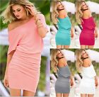 NEW! VICTORIA'S OFF-THE-SHOULDER SEXY RUCHED TEE DRESSES TUNIC TOPS -XS,S,M,XL-