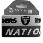 NFL rubber wrist band fan bracelet silicone 2 pack PICK your team