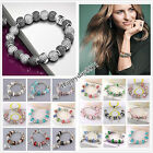 Fashion Jewelry Wholesale Solid Bead Charms Chain 925silver Bangle Bracelet +box