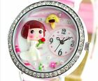 Girl dog flower new polymer clay watch fashion ladies woman waterproof Gift Xmas