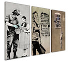 LARGE CANVAS PRINTS WALL ART BANKSY COLLAGE COLLECTION XL PICTURES GRAFFITI