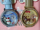 Santa Claus reindeer new Mini polymer clay watch fashion ladies woman waterproof