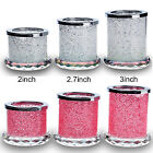 Charm Crystal Votive Candle Holders Tealight Holder Rhinestone Diamond Decor HOT