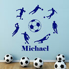 Personalised Football Boys Footballers Cut & Place Wall Stickers
