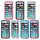 TPU Wrap Up Phone Case Cover Skin with Flip Screen Protector for iPhone 5 5S DX