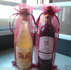"""12/25 PIECE AMARANTH ORGANZA BAGS -BOTTLE/WINE BAGS GIFT, 5.5X14"""" FREE SHIPPING"""