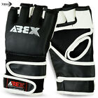 MMA Grappling Gloves Boxing Punch Bag UFC Mix Cage Fight Mitt Double Straps M,L
