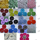 Lots 100pcs 25mm multicolor pick Resin Sewing Rim edge flatback Buttons Knitting