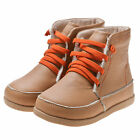 Girl/Boy Infant Kids Toddler Children's Camel Real Leather Boots-Fleece Lining
