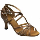 TPS Bronze Patent & Snake Skin Latin Ballroom Salsa Custom-made Dance Shoes D927