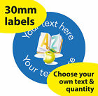 30mm Personalised stickers 'A-Z book' English Science Math Teacher Read label