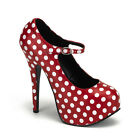 BORDELLO POLKA DOTS PROM ROCKABILLY PIN-UP MARYJANE PLATFORM HEELS WOMEN SHOES
