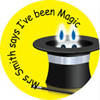 Personalised School Teachers Kids Reward Stickers 30mm Dia. I've Been Magic