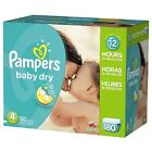 Pampers Baby Dry Disposable Diapers Economy Bulk Box Pack all sizes 1,2,3,4,5,6 <br/> Save by buying Pampers largest bulk size box 600+ sold!
