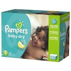 Pampers Baby Dry Disposable Diapers Economy Bulk Box Pack any size 1,2,3,4,5,6