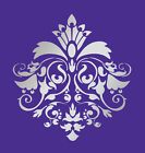 LARGE WALL DAMASK STENCIL PATTERN FAUX MURAL  #1026