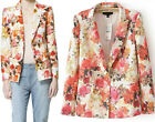 Spring Autumn Women Lady Floral Printed A Buckle Casual Suits Blazers Jackets