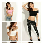 Sexy Lady Women's Off-Shoulder Skintight Midriff T Shirt Tops Blouse Clubwear