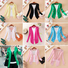 Womens Slimming Lace Candy Color Crochet Knit Coat Sweater Cardigan Jumper
