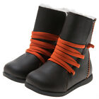 Girl/Boy Infant Kids Toddler Children's Brown Real Leather Boots-Fleece Lining