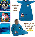 Dreambag Baby Velour Travel sleeping bag Pirate Design