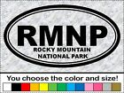 RMNP Oval Sticker Rocky Mountain National Park CO Colorado Vinyl Decal Car Wall