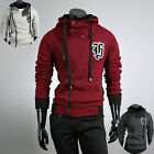 Casual New Hoodies Men Slim Fit Stylish Zip Up Coat Jacket Sweatshirts PJ POP