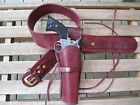 """Gun Belt Combo - 8"""" to 10"""" Smooth Holster - Wine - Leather - Sizes 32"""" to 52"""""""