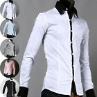 Hot Sale Fashion PJ Men's Luxury  Casual Slim Fit Stylish Dress Shirt 5 Colors