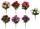 Artificial Flowers Roses / Rose Posy 41cm - 9 Head Bouquet Memorial