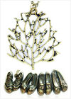 Vintage retro style shoe shoes tree birds mermaid necklace multiple choices