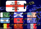 PERSONALISED LUGGAGE TAG WITH SMALL STRAP TO ATTACH TAG TO CASE - COUNTRY FLAGS