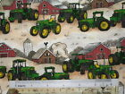 *Choose design* John Deere tractors scenic winter cotton quilting fabric *size