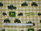 *Choose design* John Deere tractors checks plaid cotton quilting fabric *size