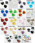 10Pcs Glass Crystal Heart Faceted Rondelle Charms Pendants 10mm White Red Mixed