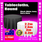 Tablecloths Wedding tablecloth Round Event Party Black White Table Cloth trestle