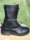 New Black Leather Steel Toe Motorcycle Combat US Military Safety Biker's Boots