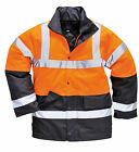 portwest hi viz traffic jacket, reflective jacket, workwear safety jacket