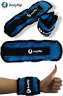 BODYRIP 2 x WRIST ANKLE ADJUSTABLE WEIGHTS WRAPS STRAPS FITNESS GYM EXERCISE