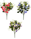 Artificial Flowers Sweetpea Gypsophillia 43cm 9 Stem Bunch Sweet Peas Home