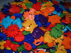 BRIGHT MIXED GARDEN SEW THRU/THROUGH BUTTONS/EMBELLISHMENTS - FROGS/FLOWERS/BEES