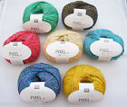 RICO FASHION PIXEL DOUBLE KNIT DK YARN WOOL SOCKS 50G BALL VARIOUS COLOURS