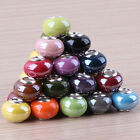 Lots Colorful Porcelain Ceramic European Spacer Big Hole Beads Fit Bracelet