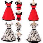 NEW ROCKABILLY VINTAGE 50s 60s PINUP LADIES SWING PROM PARTY DRESS SIZE S M L XL
