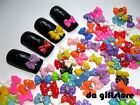 Mixed Color Bownot Bowtie Resin 3D Nail Art Cell phone Cabochon #DA168