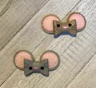 3D Mouse Hair Bow (Gray or Brown)